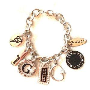 Guess Silver Charm Bracelet